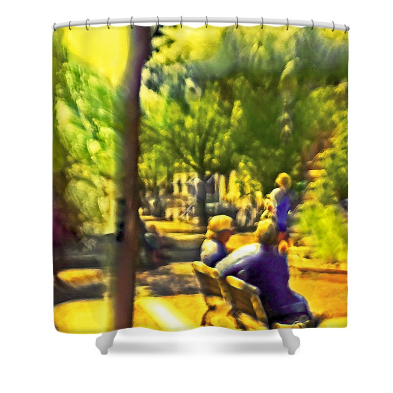 People Shower Curtain featuring the photograph Saturday Afternoon by Madeline Ellis