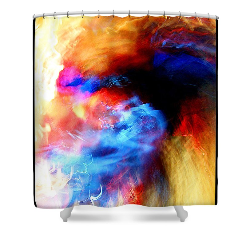 Abstract Shower Curtain featuring the photograph Saturday by Gene Tatroe