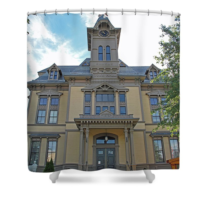 Town Hall Shower Curtain featuring the photograph Saugus Town Hall by Barbara McDevitt