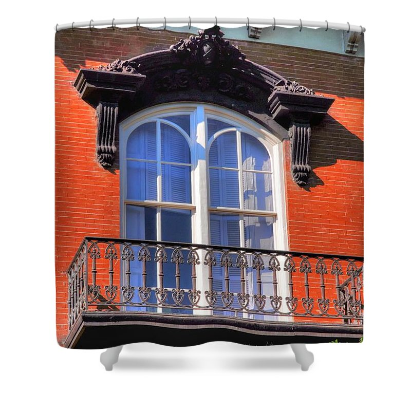 Savannah Shower Curtain featuring the photograph Savannah Window by Linda Covino