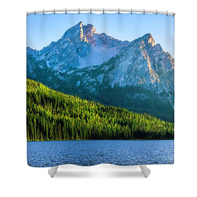Scenics Shower Curtain featuring the photograph Sawtooth Mountains And Stanley Lake by Dszc