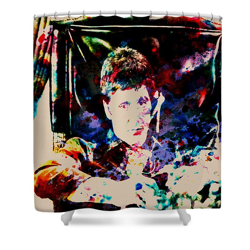Scarface Shower Curtain Featuring The Digital Art Paint Drops By Brian Reaves