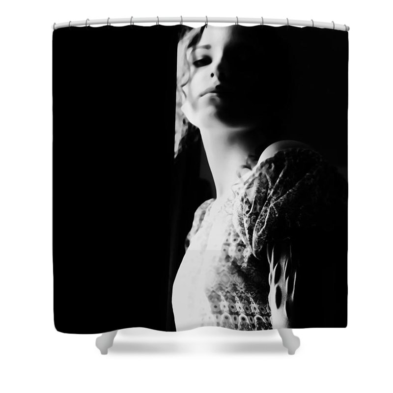Black Shower Curtain featuring the photograph Scars Are Souvenirs You Never Lose by Jessica Shelton