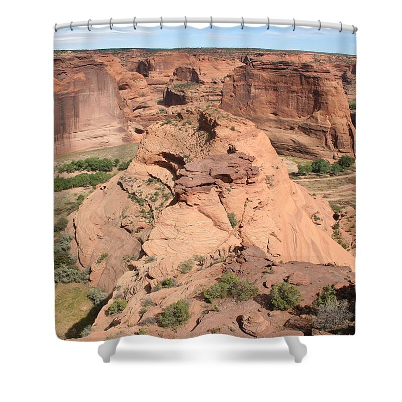 Canyon Shower Curtain featuring the photograph Scenic Canyon De Chelly by Christiane Schulze Art And Photography