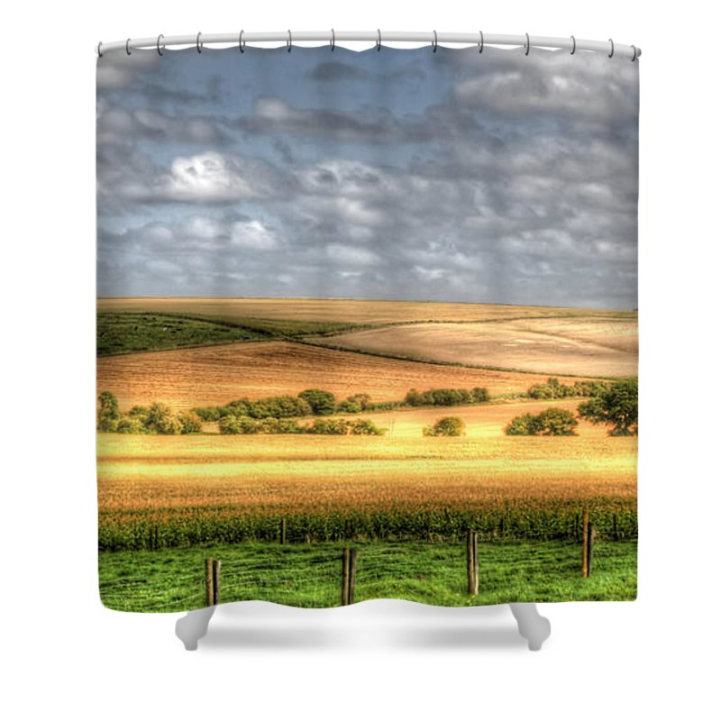 Wiltshire Shower Curtain featuring the photograph Scenic Wiltshire by Traci Law