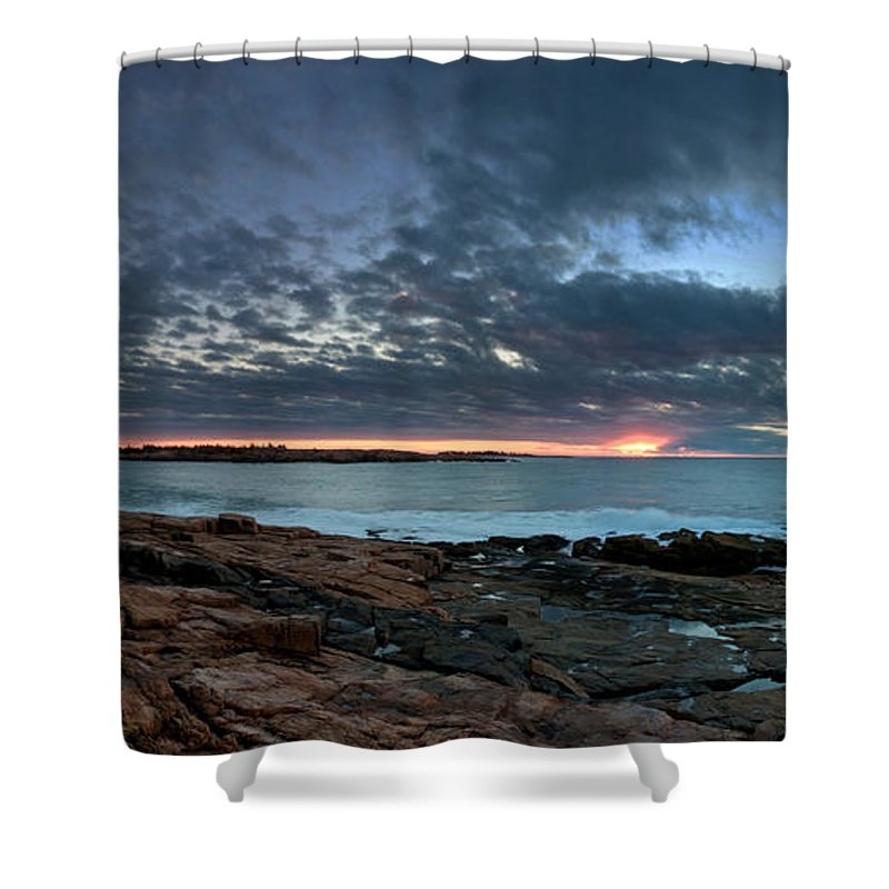 Schoodic Shower Curtain featuring the photograph Schoodic Point Sunrise 7218 by Brent L Ander