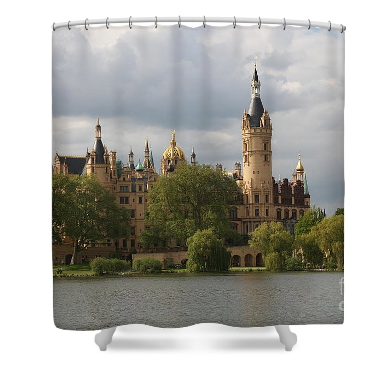 Schwerin Shower Curtain featuring the photograph Schwerin Palace - Germany by Christiane Schulze Art And Photography