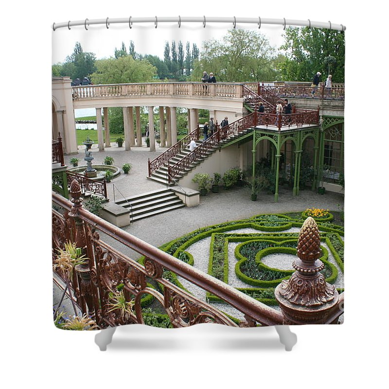 Schwerin Shower Curtain featuring the photograph Schwerin The Orangery by Christiane Schulze Art And Photography
