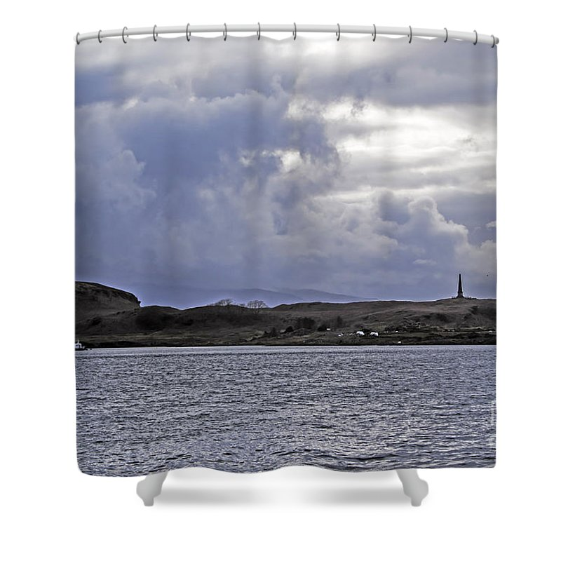 Travel Shower Curtain featuring the photograph Scottish Storm by Elvis Vaughn