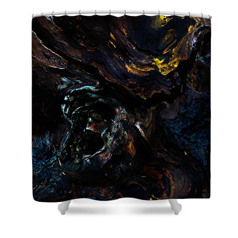 Wood Shower Curtain featuring the photograph Screaming by Venetta Archer