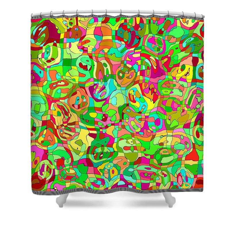 Abstract Shower Curtain featuring the digital art Scribble... by Tim Fillingim