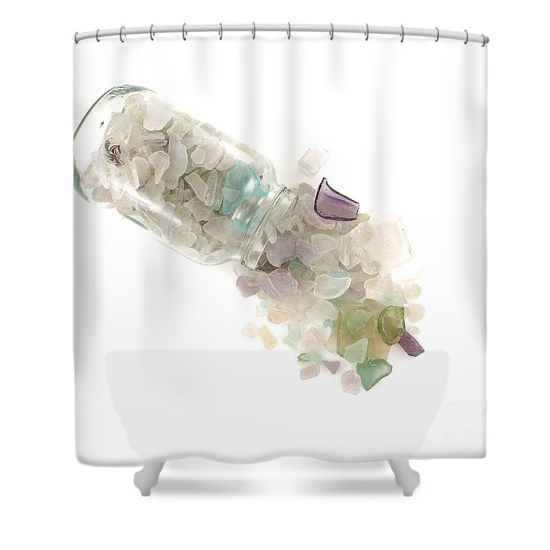 Maine Shower Curtain Featuring The Photograph Sea Glass Cornucopia By Jennifer Booher