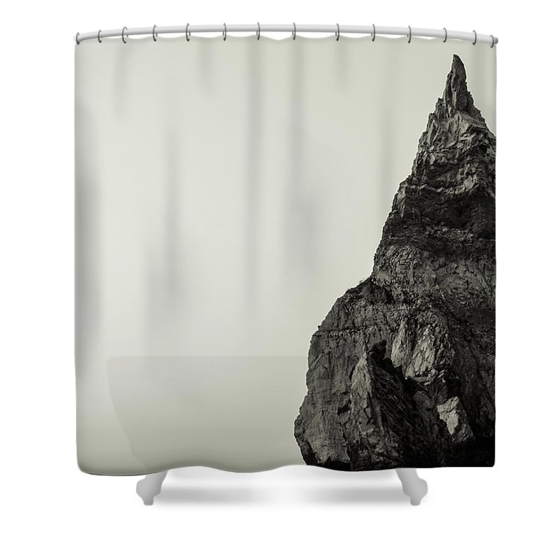 Bears Beach Shower Curtain featuring the photograph Sea Stack by Marco Oliveira