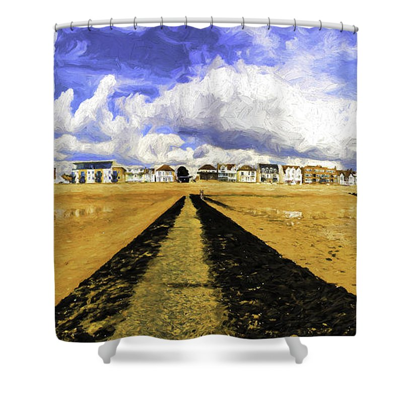 Southend On Sea Shower Curtain featuring the photograph Seafront at Southend on Sea by Sheila Smart Fine Art Photography