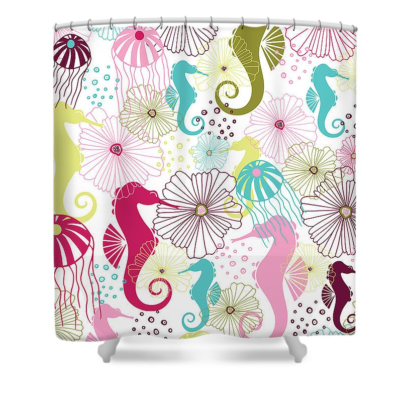 Seahorse Shower Curtains