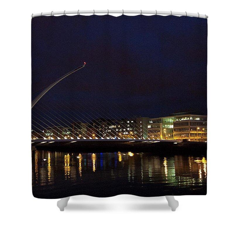 Dublin Shower Curtain featuring the photograph Sean Ocasey Bridge, Dublin by Leverstock