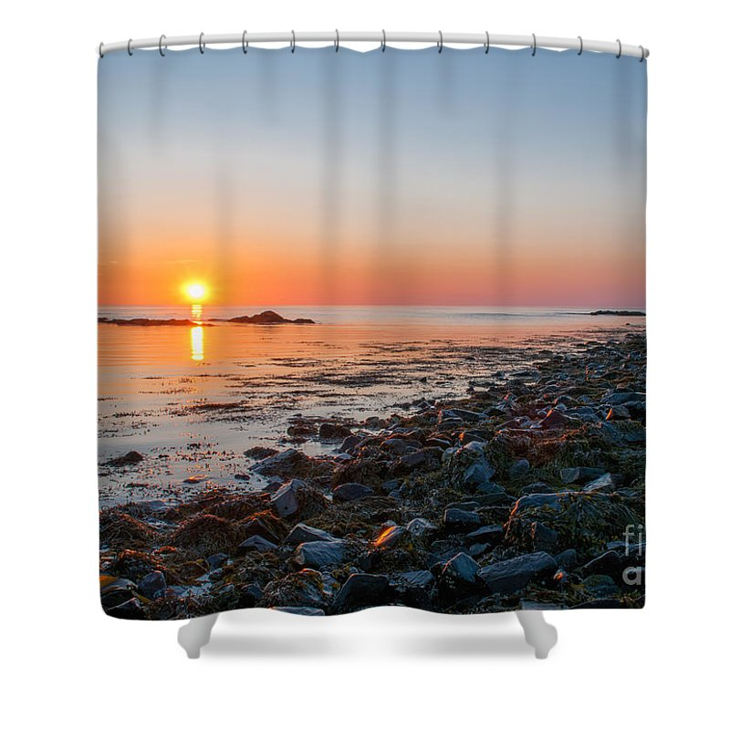 Shower Curtain featuring the photograph Seapoint Beach In Kittery Point Maine by Scott Thorp