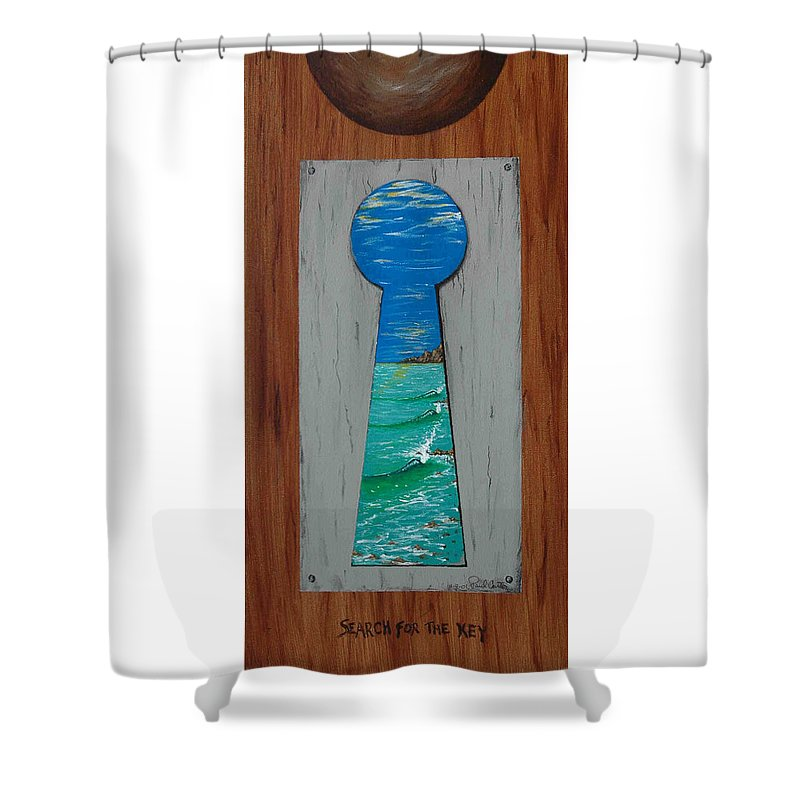 Key Shower Curtain featuring the painting Search For The Key by Paul Carter