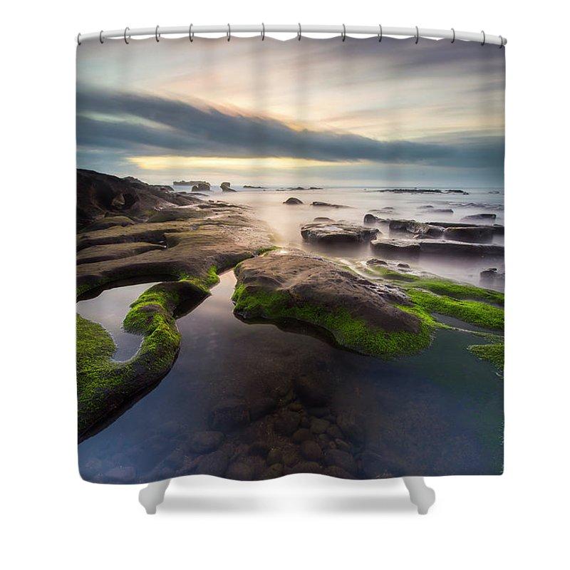 Scenics Shower Curtain featuring the photograph Seascape Bali by Www.tonnaja.com