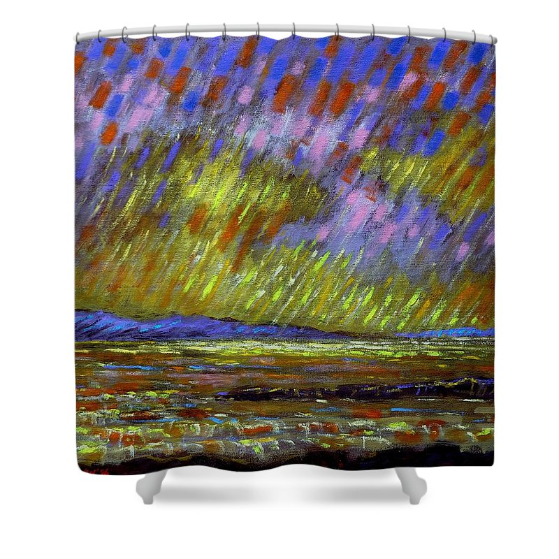 Acrylic Shower Curtain featuring the painting Seascape I by John Nolan