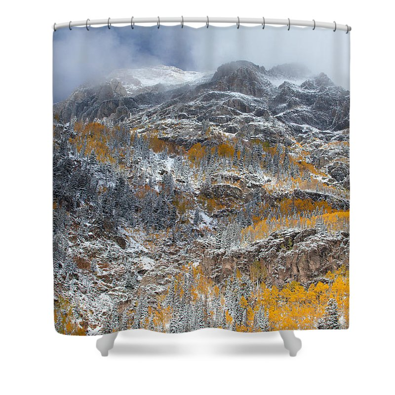 Colorado Landscapes Shower Curtain featuring the photograph Seasonal Chaos by Darren White