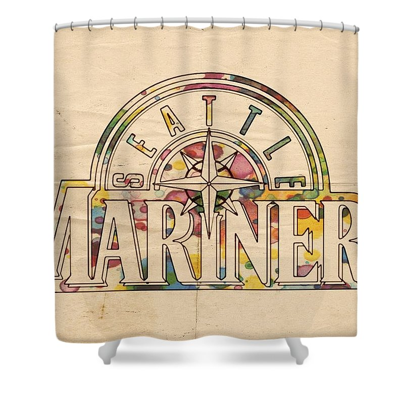 Seattle Mariners Poster Art Shower Curtain For Sale By Florian Rodarte