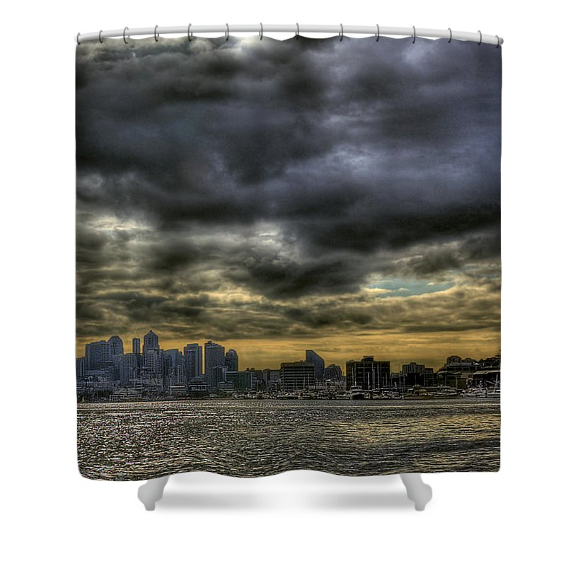 Seattle Skyline Shower Curtain featuring the photograph Seattle Skyline by David Patterson
