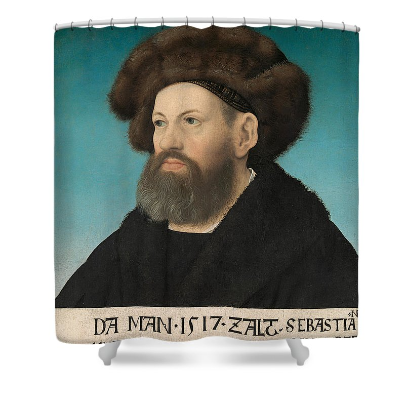 Hans Maler Shower Curtain featuring the painting Sebastian Andorfer by Hans Maler