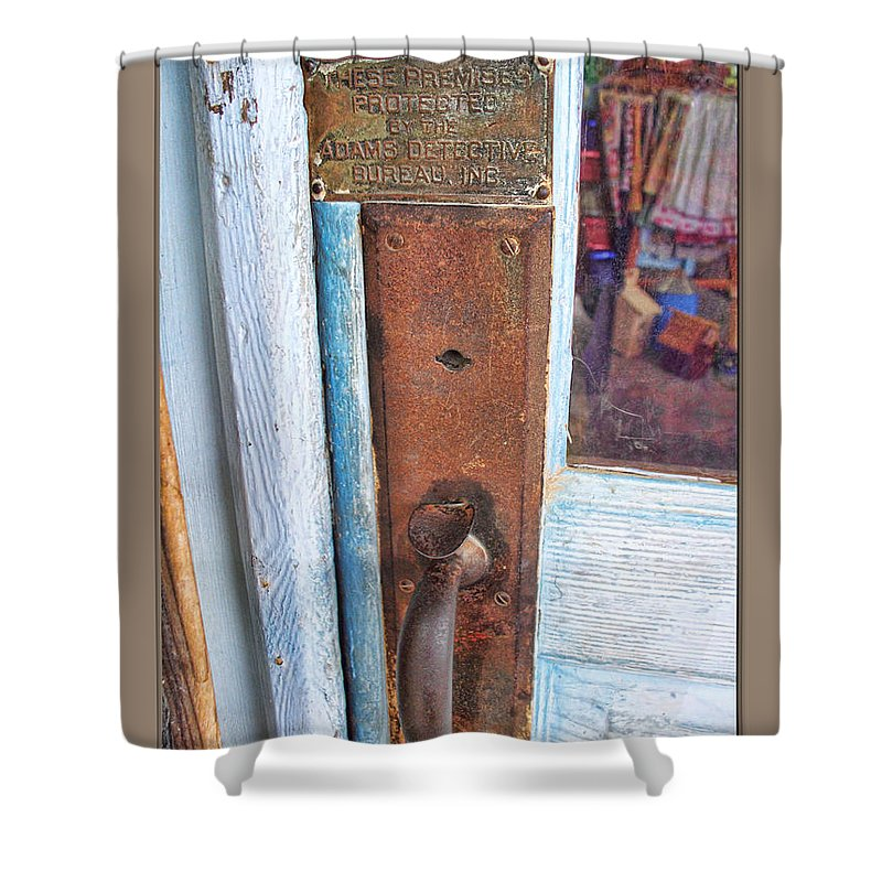 Arcitecture Shower Curtain featuring the photograph Security by Debbie Portwood