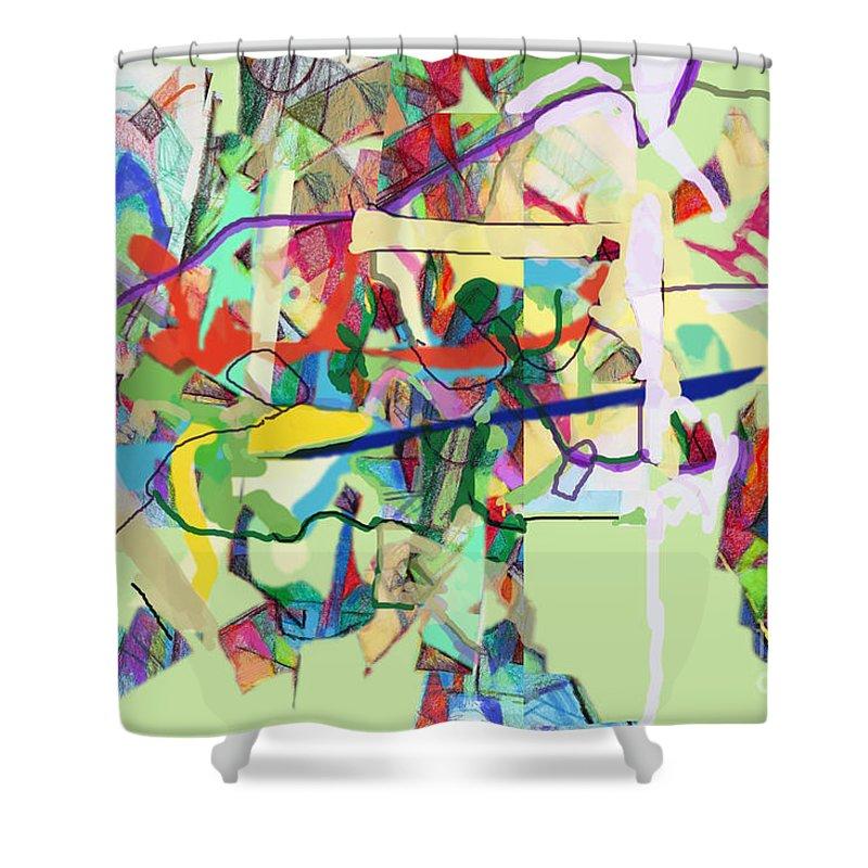 Torah Shower Curtain featuring the digital art Seeker Being Sought 1d by David Baruch Wolk