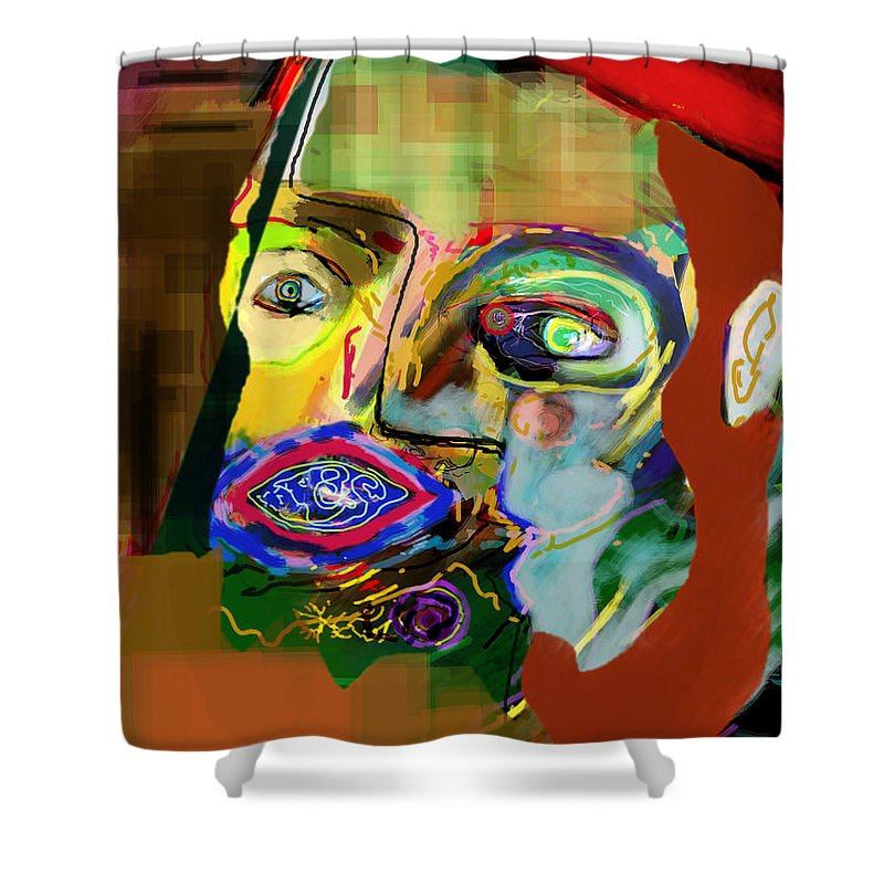 Torah Shower Curtain featuring the digital art This One Acquired Wisdom 16 by David Baruch Wolk