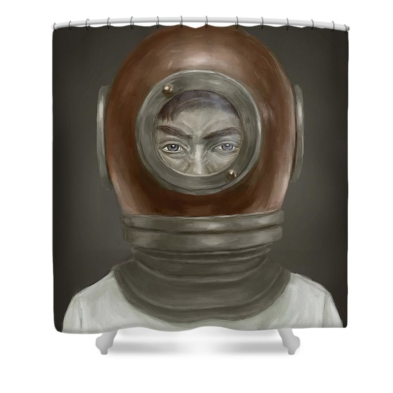 Helmets Shower Curtains