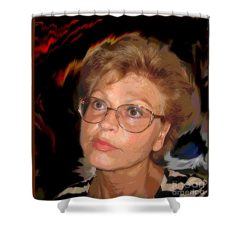 Self Portrait Shower Curtain featuring the photograph self portrait I by Dragica Micki Fortuna