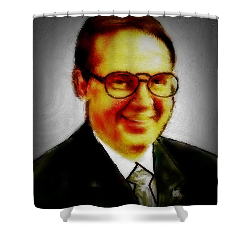 Self Shower Curtain featuring the Self Portrait Of Bruce Nutting by Bruce Nutting