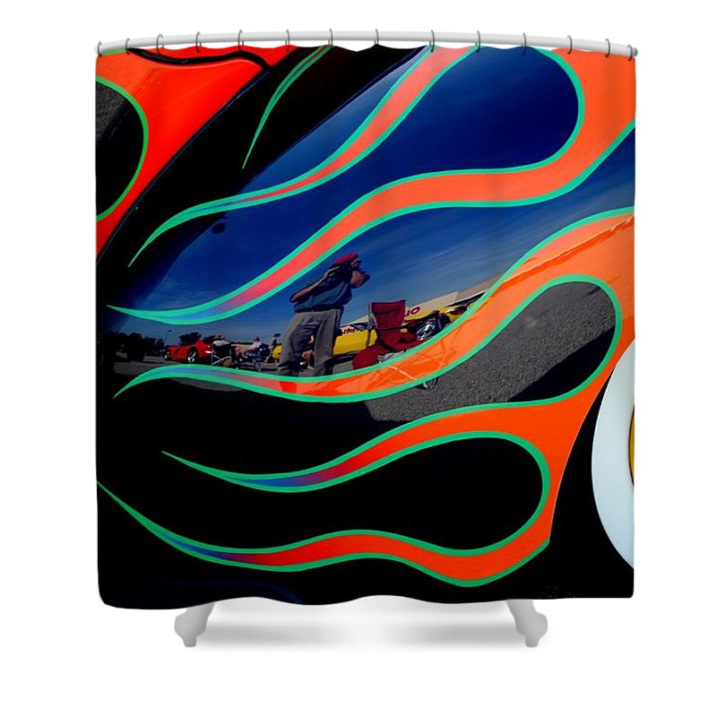 Photo Shower Curtain featuring the photograph Self Shot by Frozen in Time Fine Art Photography
