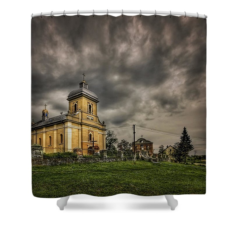 Church Shower Curtain featuring the photograph Send Me An Angel by Evelina Kremsdorf