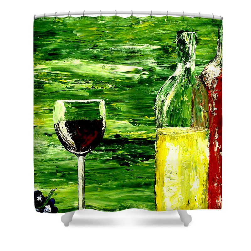 Mark Moore Shower Curtain featuring the painting Sensual Nectar by Mark Moore