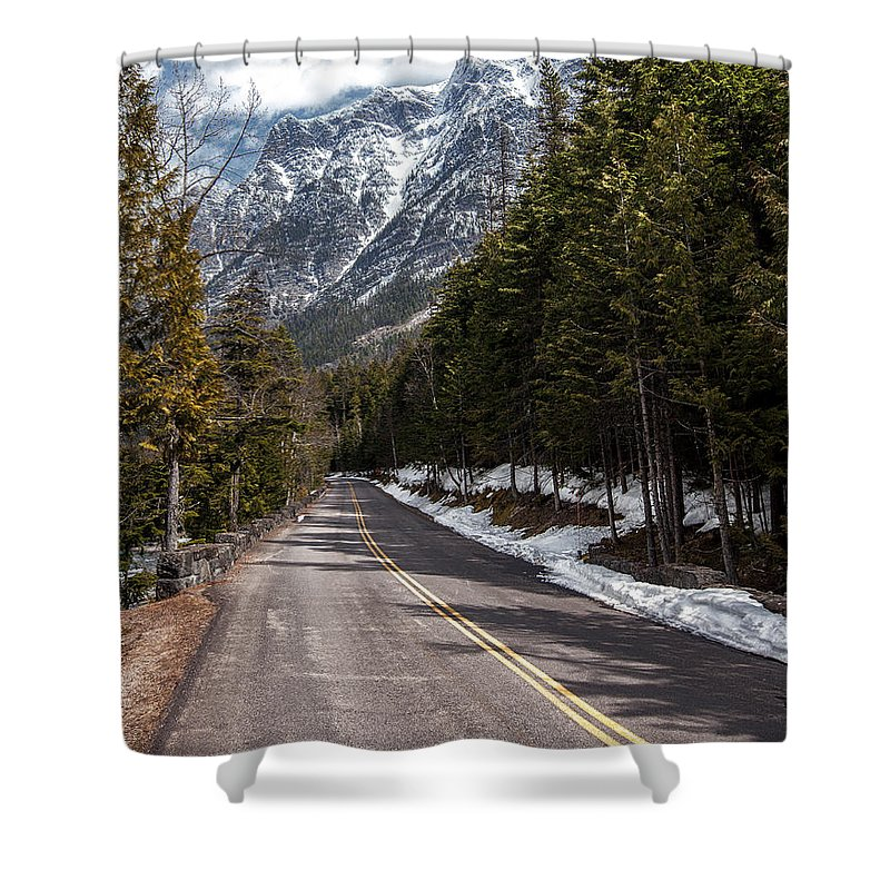 Road Shower Curtain featuring the photograph Sentimental Journey by Aaron Aldrich