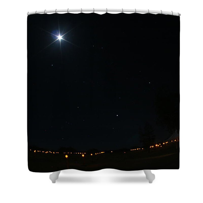 Moon Shower Curtain featuring the photograph Sentinals by David S Reynolds
