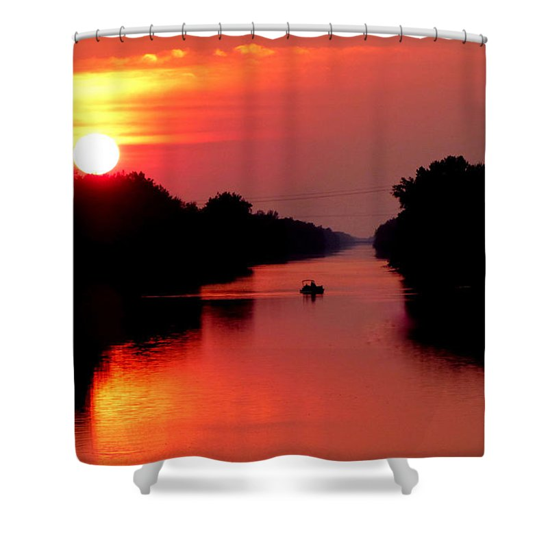 Landscape Shower Curtain featuring the photograph September Sunset by Rennae Christman