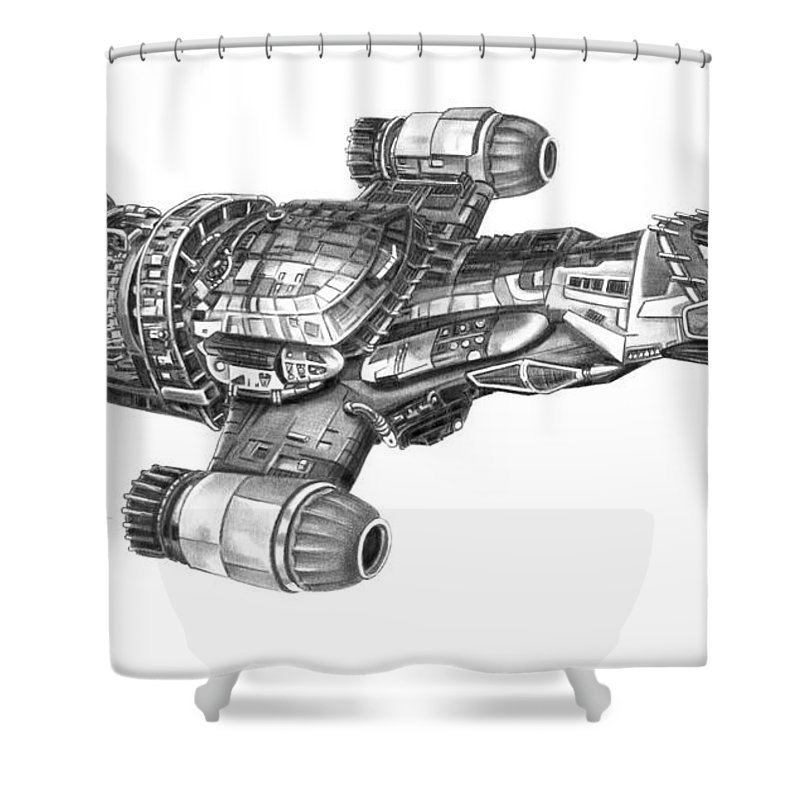 Serenity Firefly Class Shower Curtain For Sale By Murphy Elliott