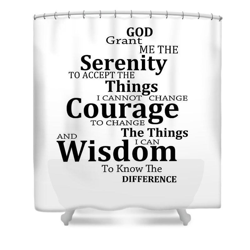 Serenity Prayer 6 - Simple Black And White Shower Curtain for Sale by  Sharon Cummings a2317fa694540