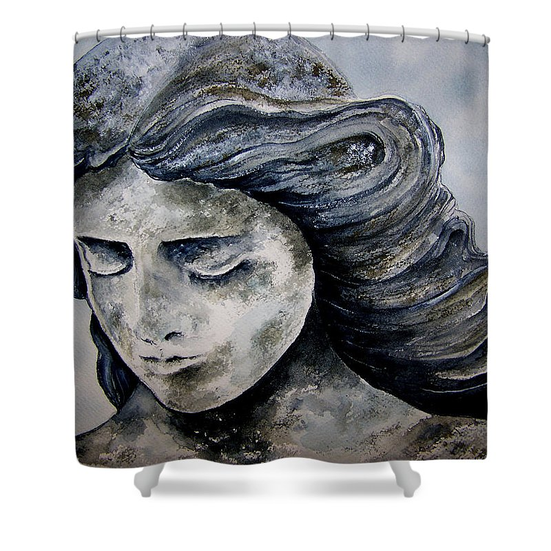 Stone Shower Curtain featuring the painting Set In Stone by Brenda Owen