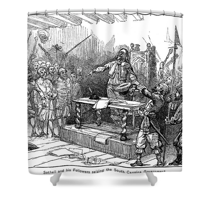 1690 Shower Curtain featuring the painting Seth Sothell, 1690 by Granger