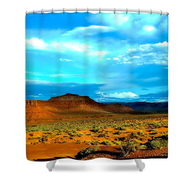 Valley Of The Gods Shower Curtain featuring the photograph Seven Gods II by Robert Bales