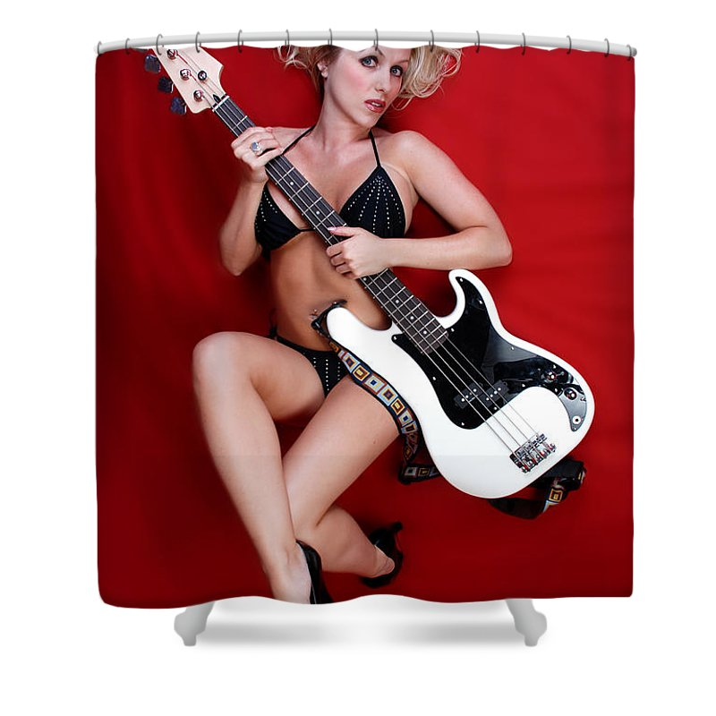 Guitar Shower Curtain featuring the photograph Sexy Guitar by Jt PhotoDesign