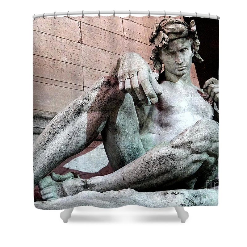 The Maine Monument Shower Curtain featuring the photograph Sexy In Stone by Ed Weidman