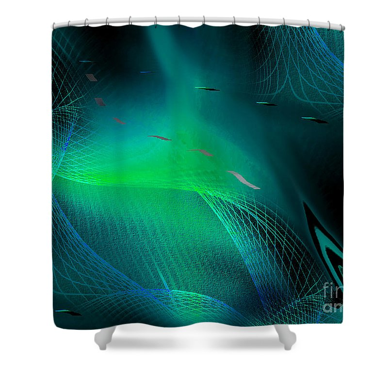 Interior Design Shower Curtain featuring the painting Ecstasy by Yul Olaivar