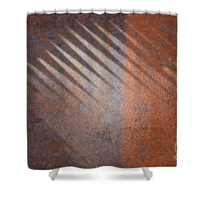 Rust Shower Curtain featuring the photograph Shadows And Rust by Carol Groenen