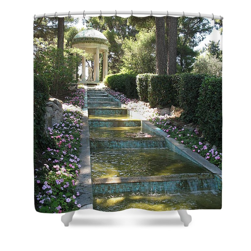 Villa Shower Curtain featuring the photograph Shady Pavilion by Christiane Schulze Art And Photography
